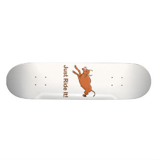 Just Ride It With Brown Bucking Bull 20.6 Cm Skateboard Deck