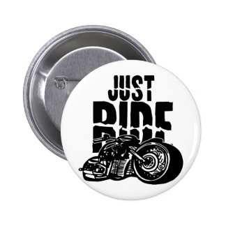 Just Ride Motorcycle Design 6 Cm Round Badge