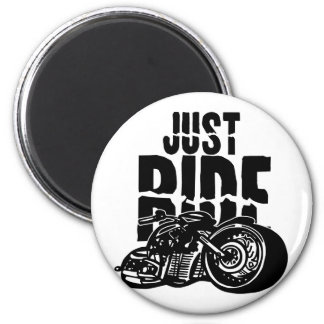 Just Ride Motorcycle Design Magnet