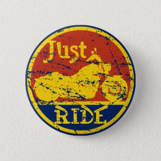 Just Ride Motorcycle Logo Pin