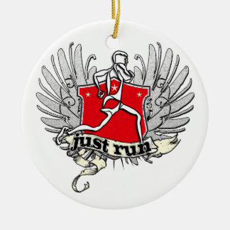 Just Run Man Christmas Ornament
