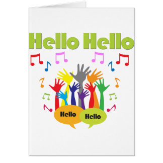 Just Say... Hello Hello Card