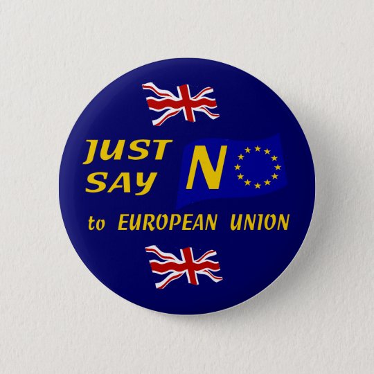 Just Say No 6 Cm Round Badge