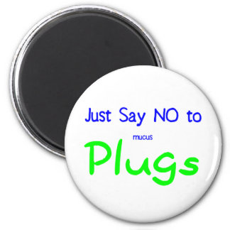 Just Say No (Green) 6 Cm Round Magnet