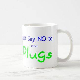 Just Say No (Green) Basic White Mug