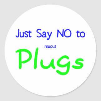 Just Say No (Green) Classic Round Sticker
