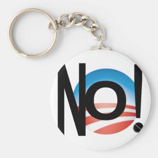 JUST SAY NO! NOBAMA NO! OBAMA! KEY CHAIN