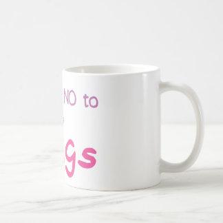 Just Say No (Pink) Basic White Mug