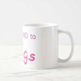 Just Say No (Pink) Classic White Coffee Mug