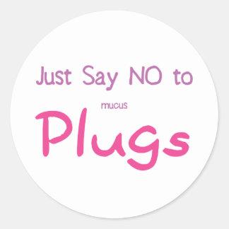 Just Say No (Pink) Round Sticker