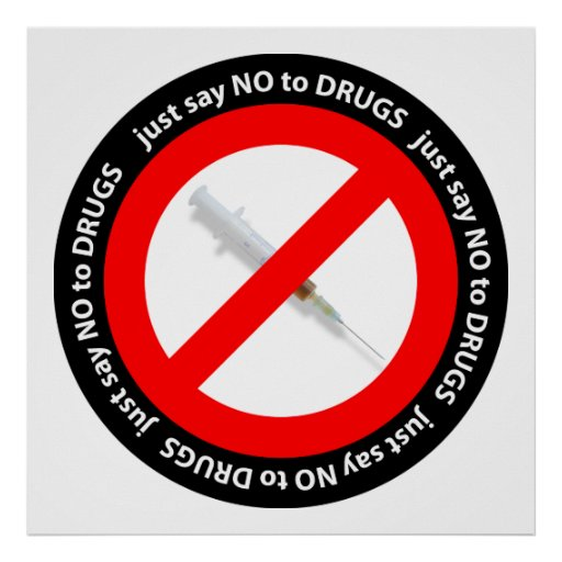 Just say no to drugs poster