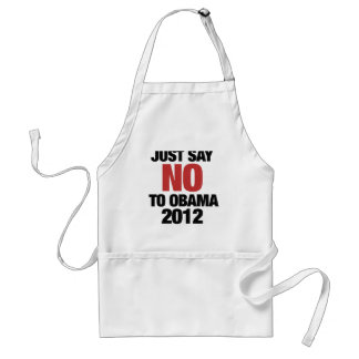 Just say NO to Obama 2012 Standard Apron