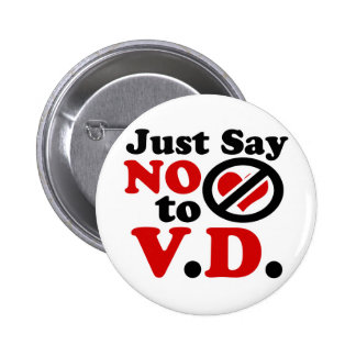 Just Say no to Valentines day Buttons