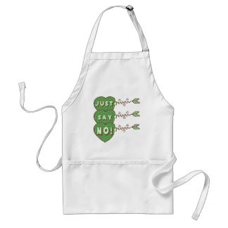 Just Say No Valentines T-shirts and Gifts Apron