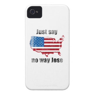Just say no way Jose Faded.png iPhone 4 Case