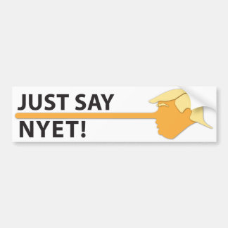 Just Say Nyet (on white) Bumper Sticker