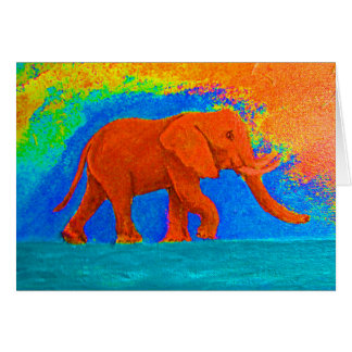 JUST SAY YES TO ELEPHANTS GREETING CARD