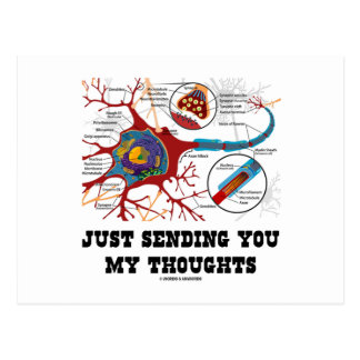 Just Sending You My Thoughts (Neuron / Synapse) Post Card