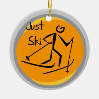 Just Ski T-shirts and Gifts Christmas Ornament