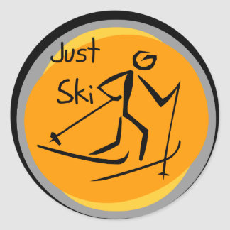 Just Ski T-shirts and Gifts Round Sticker