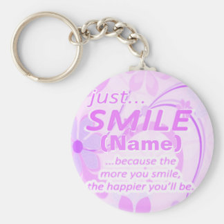 Just Smile Add a Name Key Ring