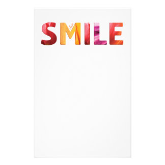 Just Smile Happy Quote #04 Customised Stationery