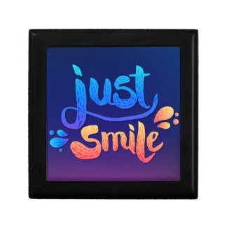 Just Smile Small Square Gift Box