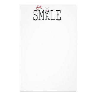 Just Smile Customized Stationery