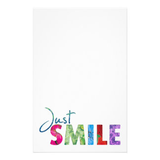 Just Smile Stationery