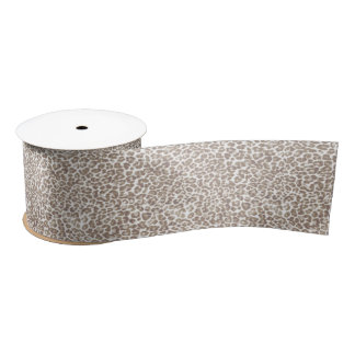 Just Snow Leopard Satin Ribbon