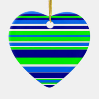 Just Stripes Ceramic Heart Decoration