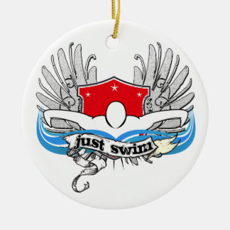 Just Swim Christmas Ornament