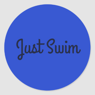 Just Swim  Sticker