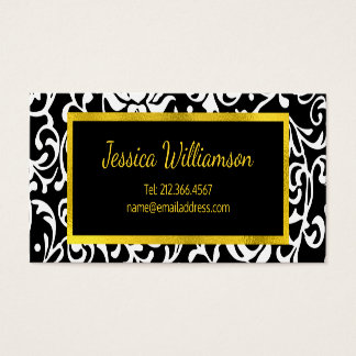 Just the Basics Elegant Young Woman's Business Card