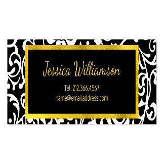 Just the Basics Elegant Young Woman's Pack Of Standard Business Cards