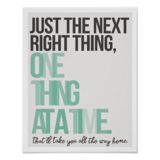 "Just the Next Right Thing 11""x14"" Art Print II"