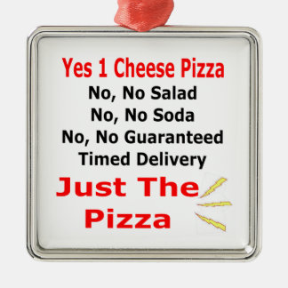 Just The Pizza Christmas Ornament