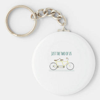 Just the two of us basic round button key ring