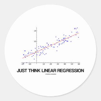 Just Think Linear Regression (Statistics) Round Sticker