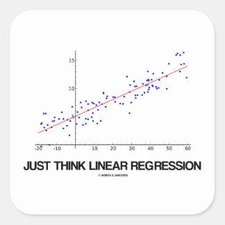 Just Think Linear Regression (Statistics) Square Sticker