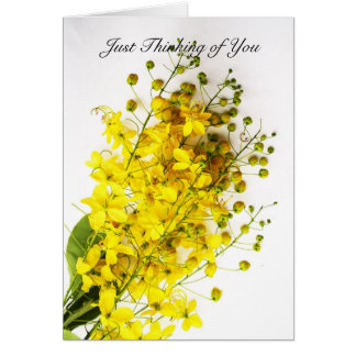 """""""Just Thinking of You"""" Yellow Buds Note Card"""