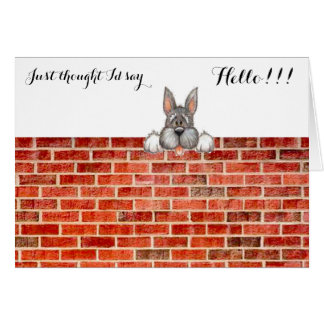 JUST THOUGHT I'D SAY HELLO!!! GREETING CARD