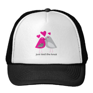 just tied the knot trucker hat