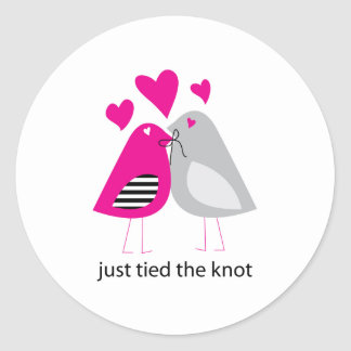 just tied the knot sticker