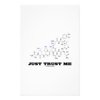 Just Trust Me (Oxytocin Mammalian Hormone) Stationery Paper