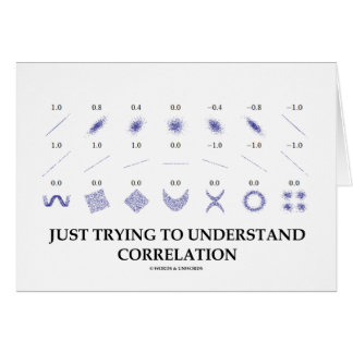 Just Trying To Understand Correlation Greeting Card
