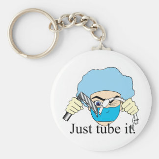 Just tube it basic round button key ring