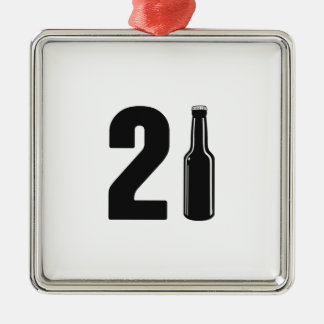 Just Turned 21 Beer Bottle 21st Birthday Christmas Ornament