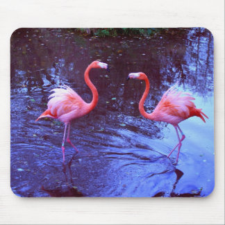 Just two flamingos mouse mat