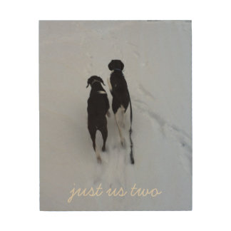 Just us Two Wood Print